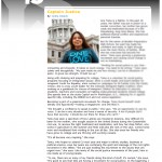 "Article in Yellow Scene about BP Student - Ana Temu ""Captain Justice"""