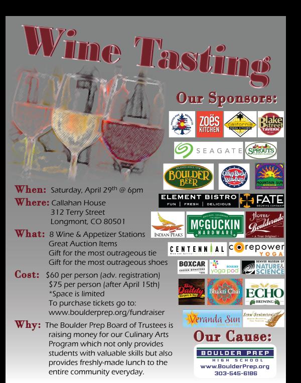 Wine Tasting Flyer 2017
